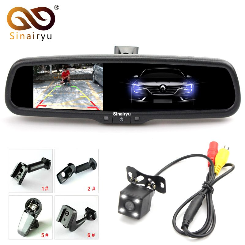 4.3 Inch Auto Dimming Mirror Car Parking Monitor With Rear View Camera, Special Bracket Replace Original Interior Mirror