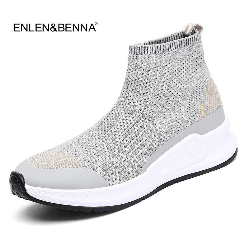 Frauen Freizeitschuhe 2018 Neue Ankunft Frauen Breathable Socke Schuhe Flache Platfom Slip-on-müßiggänger Größe 40 ultraleicht turnschuhe