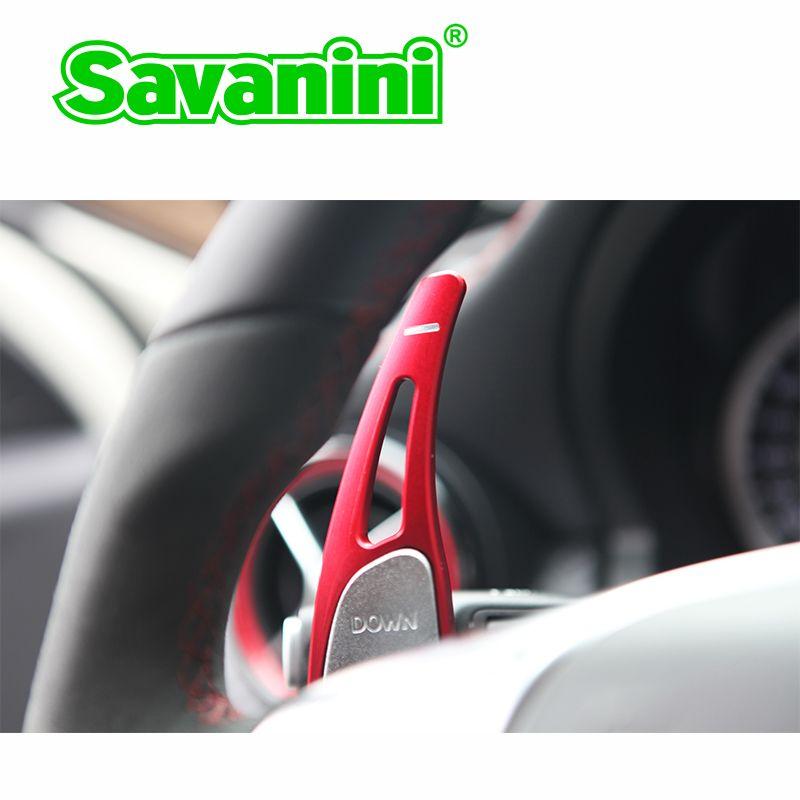 Extension de manette de vitesse de changement de volant en aluminium Savanini pour Mercedes Benz AMG A45 CLA45 C63 S63 GLA45 2009-2014 auto car