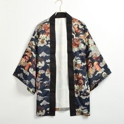 Japonais Kimono Yukata Hommes Cardgain Femmes Court Outwear Manteau Hyakki Yakou Clarkes Monde Costumes
