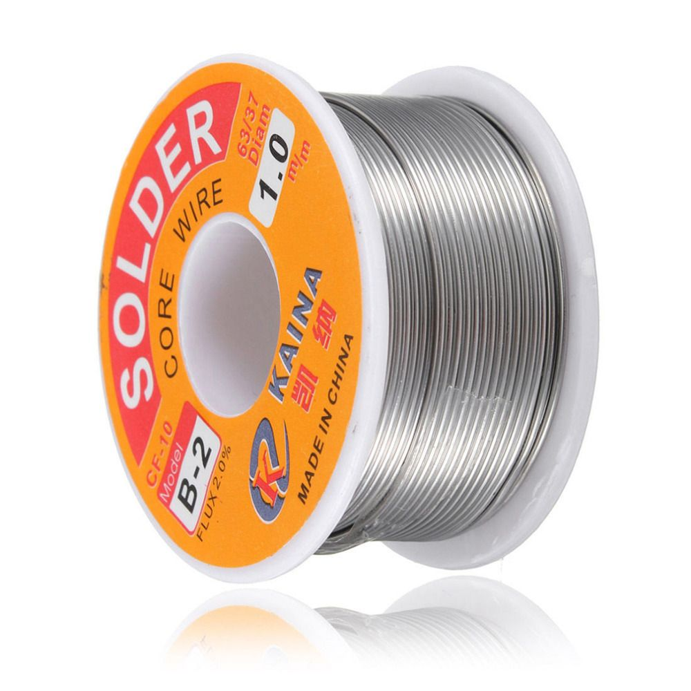Neue Schweißen Eisendraht Reel 100g/3,5 unze FLUX 2.0% 1mm 63/37 45FT Zinn Blei Linie Kolophonium kern Flux Solder Löten Großhandel
