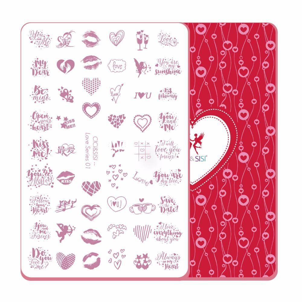 CICI и Sisi Дизайн ногтей тиснения Таблички штамповка Stamp шаблон Интимные аксессуары он Книги по искусству узор изображения прямоугольные плас...