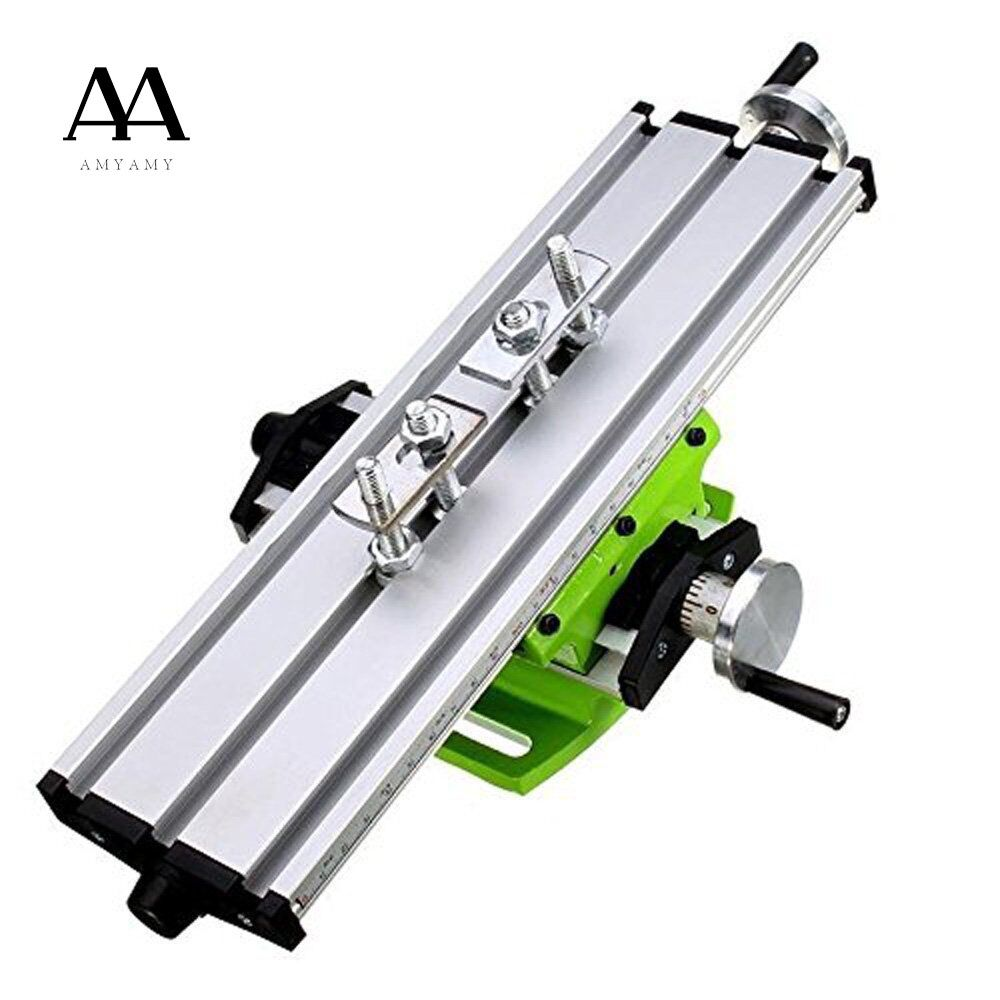 AMYAMY Compound table Working Cross slide Table Worktable for <font><b>Milling</b></font> Drilling Bench Multifunction Adjustable X-Y ship from USA