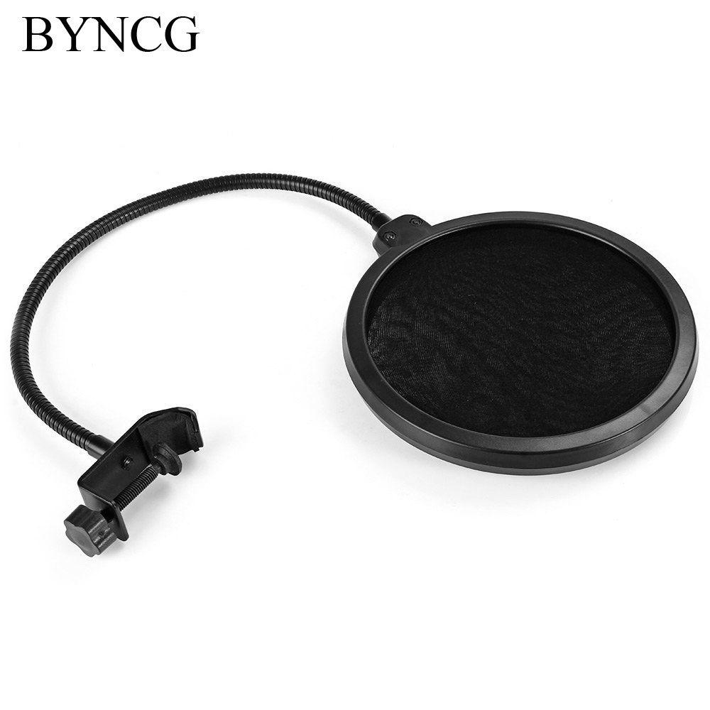 BYNCG pour Studio Microphone Microfone Mic Vent Pop Screen Filter/Support Pivotant/Masque Hésité Pour Chant Enregistrement
