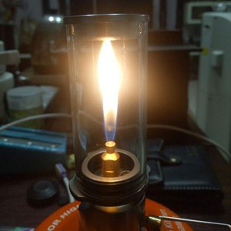 Lampe à bougie onirique Portable en plein air Camping lumière gaz éclairage lampe de Camping tente lampe de camp de gaz brûleur à gaz