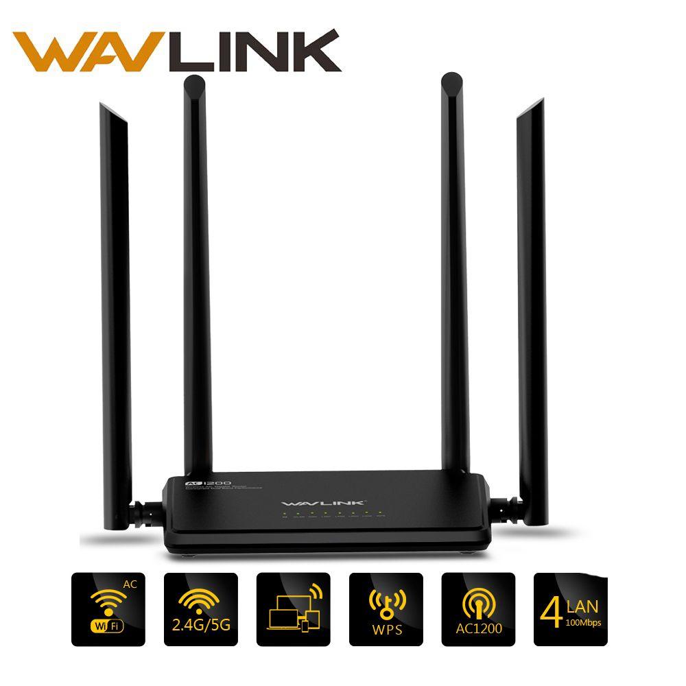 Wavlink AC1200 Sans Fil Wifi Routeur Haute Puissance Double Bande 2.4 ghz Wifi Routeur Répéteur 5 ghz avec 4 * 5dBi externe À Gain élevé Antenne