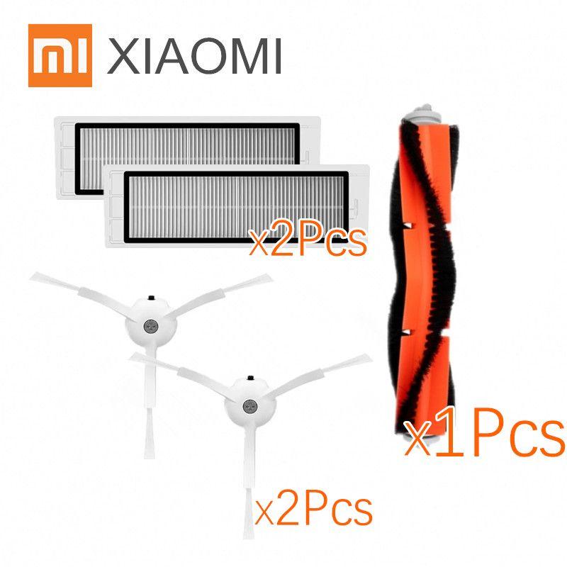 Approprié pour Xiaomi Robot Aspirateur roborock Pièces De Rechange Kits Brosses Latérales HEPA Filtre Rouleau brosse de remplacement