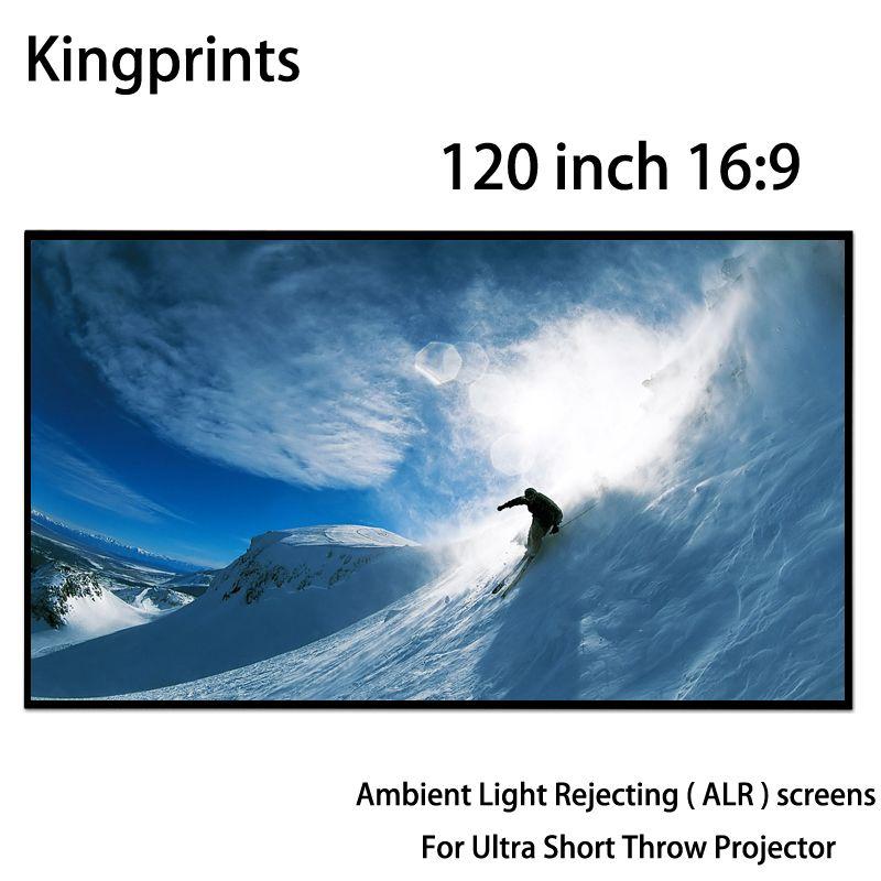 Dünne Lünette 120 16:9 Festen Rahmen Projektion Bildschirme Umgebungs Licht Ablehnung ALR Screen Für Xiaomi Ultra Short-Throw-Projektor