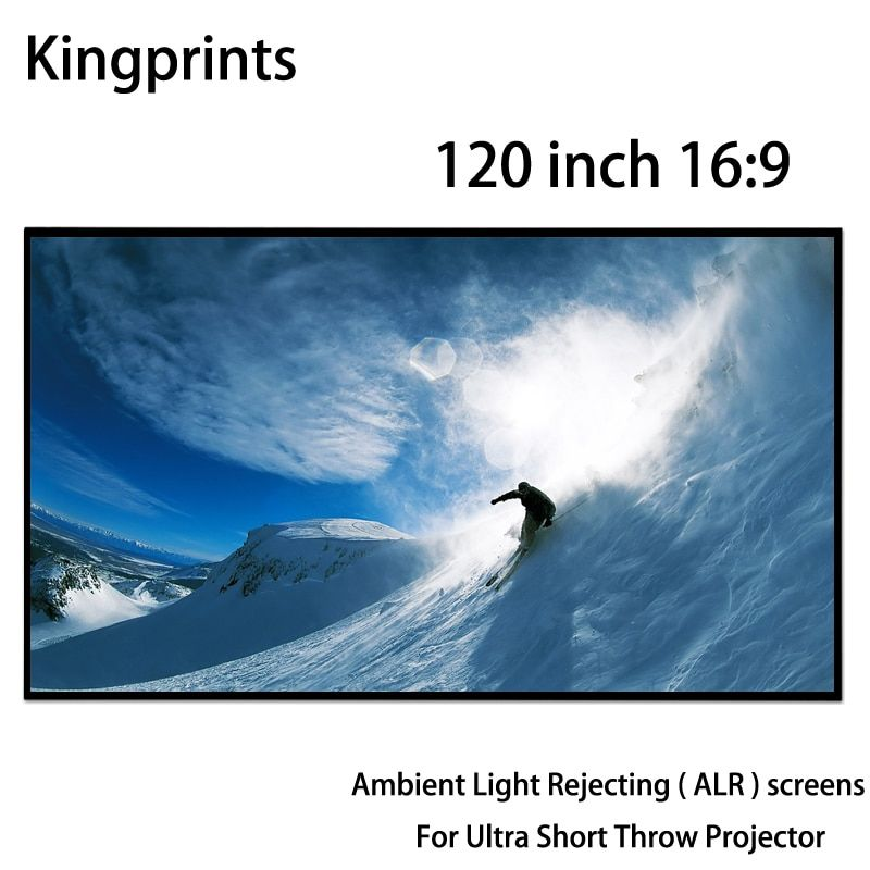Thin Bezel 120 16:9 Fixed Frame Projection Screens Ambient Light Rejecting ALR Screen For Xiaomi Ultra Short Throw Projector