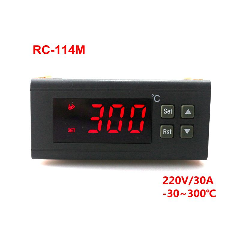 RC-114M 220V/30A -30~300 Celsius Digital Temperature Controller Thermostat Regulator with NTC Sensor Relay Output