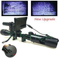 Upgrade Outdoor Berburu Optik Pandangan Taktis Digital Infrared Malam Visi Teleskop Teropong dengan LCD Menggunakan Di Siang dan Malam