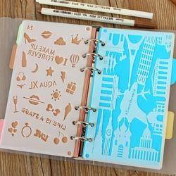 DIY Craft Coupe Meurt Bullet Journal Pochoir En Plastique Planificateur DIY Dessin Modèle pour A6 Lâche Journal Notebook Album