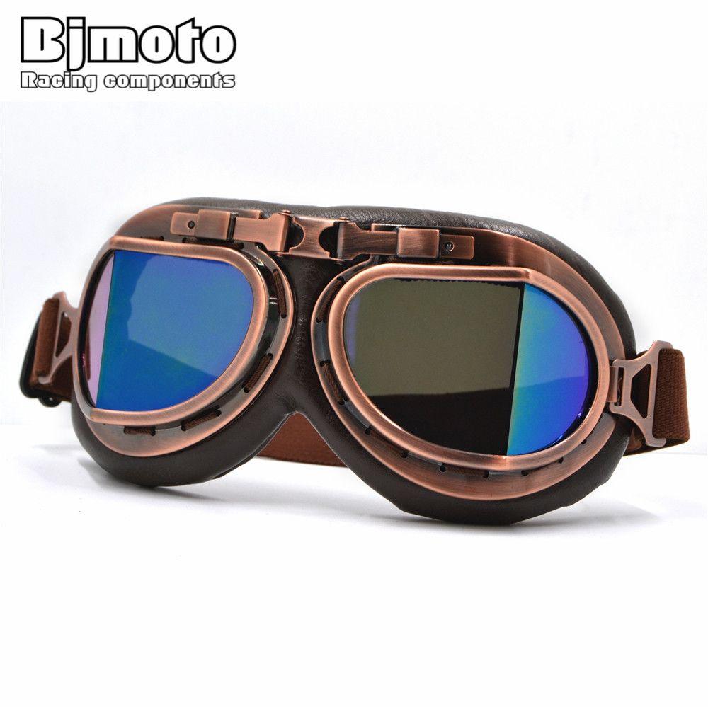 Новый универсальный Винтаж пилот байкер мотоцикл очки для шлем открытый Уход за кожей лица половина мотокросс очки для Харли мотоциклов