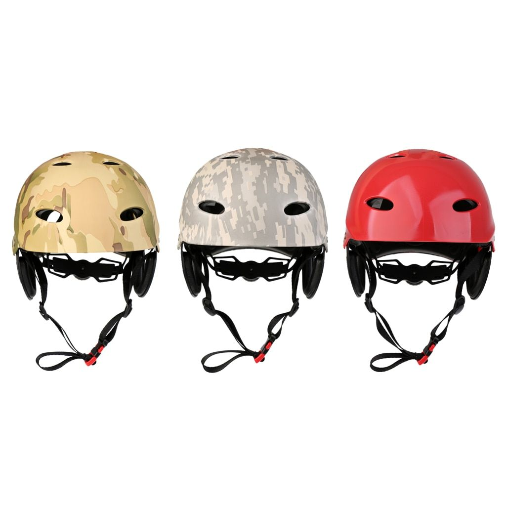 Kayaking Adjustable Safety Helmet Rafting Canoe Hard Cap Protector Guard for Sailing Surfing Jet Ski SUP Wakeboard Water Skiing