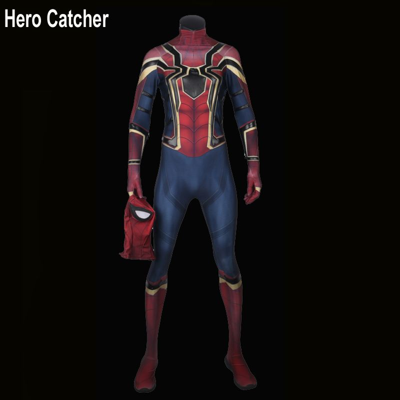 Hero Catcher High Quality 3D Print IronSipder Cosplay Costume For Man Homecoming Spiderman Suit Iron Spider Costume