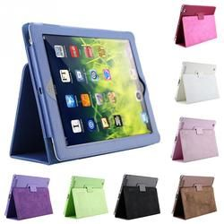 For  i pad 2/3/4 Smart Stand Holder Case Auto Sleep /Wake Up Flip Litchi PU Leather Cover promotion cheap