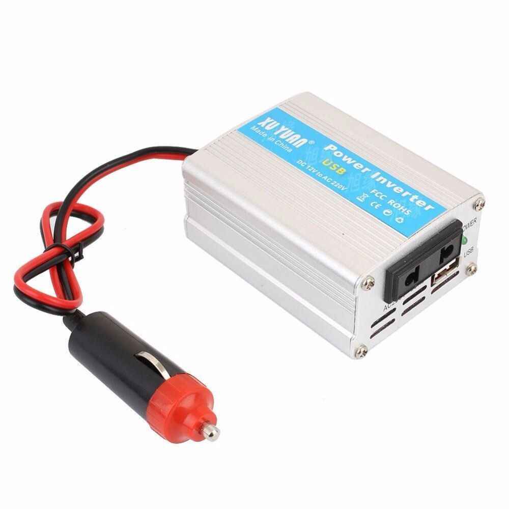 Vehemo Inverter Aluminium Alloy Inverters Power Supply Converter Durable 200W 12V DC To 110V / 220V AC