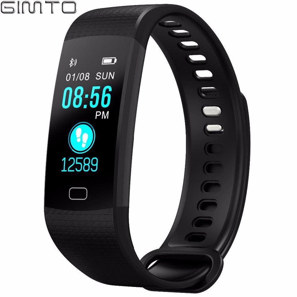 GIMTO Smart Bracelet Men Women Sport Watch Digital Waterproof Wristband Heart Rate <font><b>Blood</b></font> Pressure Intelligent For Android iOS