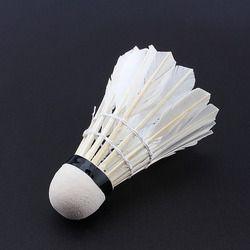 12 pcs/Lot Professional Badminton Balls Feather Portable White Goose Training Badminton Ball Shuttlecocks Sports Accessories