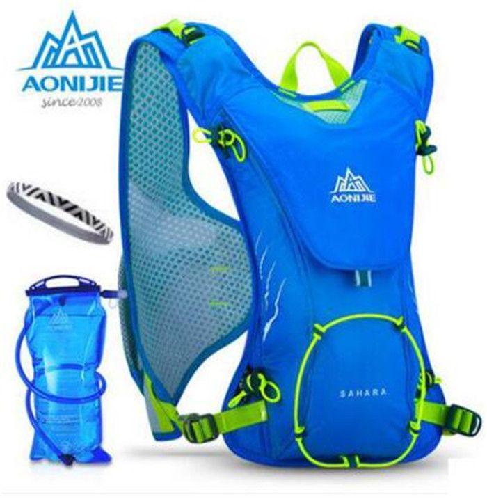 AONIJIE Außentrailrunning Marathon Hydration Rucksack Leichte Wandern Tasche Mit + 1.5L Hydration Wasserbeutel für Männer Frauen