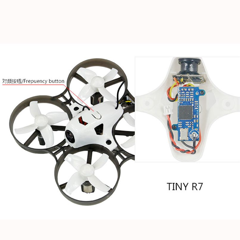 LDARC Q25G2H 5.8G 25mW 16CH FPV VTX+199C Combo & 800TVL 150 NTSC Mini Camera & Canopy for DIY Tiny R7 Whoop Inductrix RC Drone