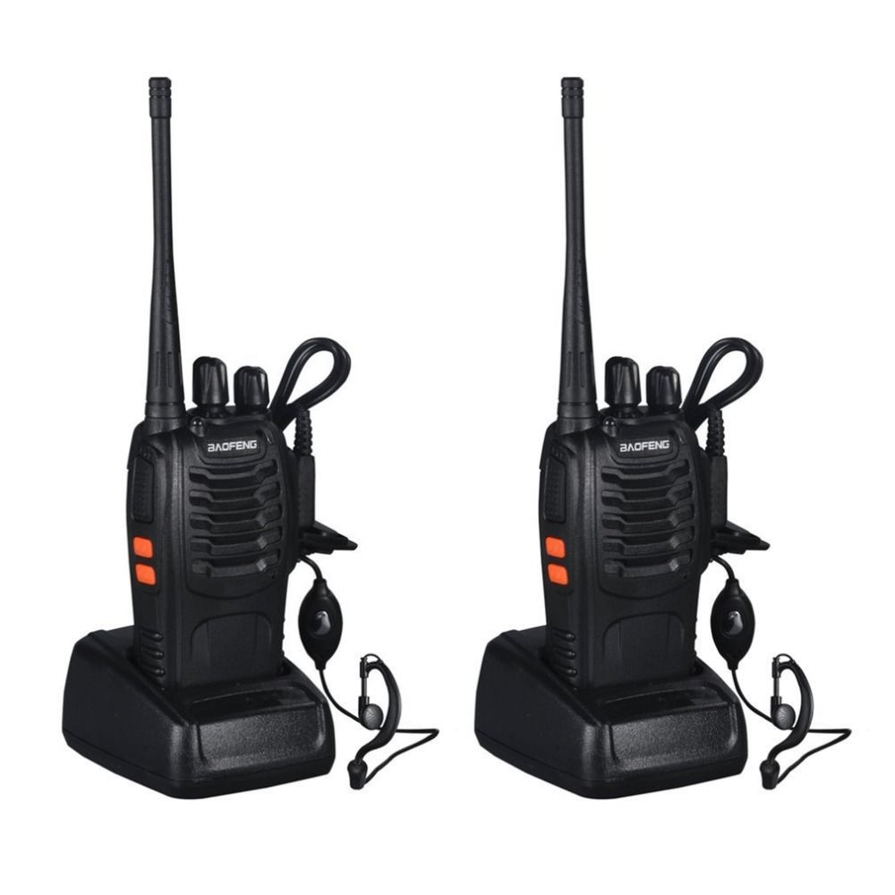 Rechargeable Walkie-talkie Professional Flashlight 5W 16Ch With Headset 2-way Baofeng Radio VHF/UHF FM Transceiver 400-470MHz