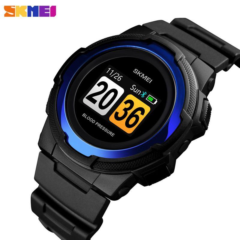 SKMEI Männer Smart Uhr Blutdruck Schlaf Tracker Elektronische Männer der Armbanduhr Luxus Kalorien Stoppuhr Sport Uhr Armband Männer