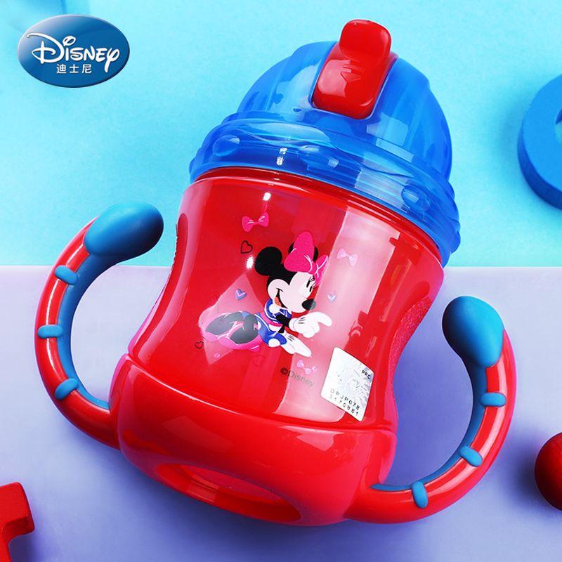 Disney для исследования питьевой дети Бутылки для воды с соломой чувство Бутылочки unbrocken всасывания напиток для Посуда для напитков