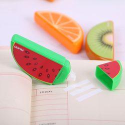 3 unids fruta Linda cinta de corrección material plástico corrección cinta kawaii papelería oficina suministros de la escuela