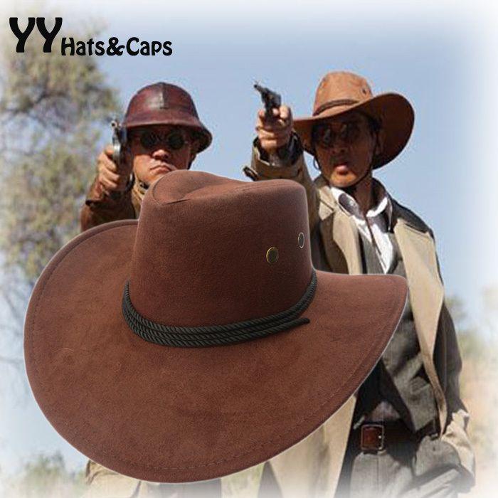 Nouveau 2018 chapeau de soleil Faux cuir Cowboy chapeau hommes et femmes voyage casquettes mode Western chapeaux Chapeu Cowboy 9 couleurs YY0270