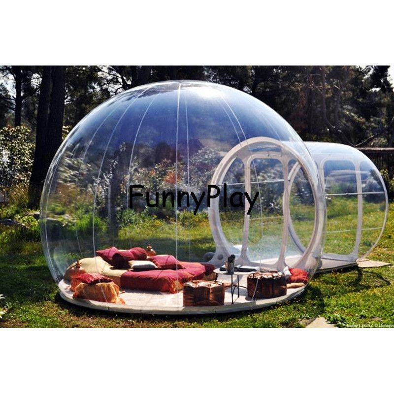 single tunnel inflatable bubble camping tent,inflatable clear beach hiking tents with vestibule,large inflatable igloo tents