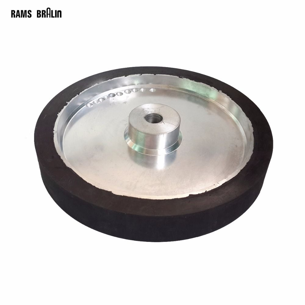 350*50mm Belt Sander Rubber Wheel Flat Surface Belt Grinder Contact Wheel Dynamically Balanced
