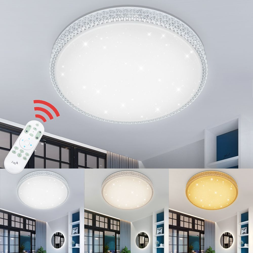 Dimmable 50W Modern Design Starry Sky LED Ceiling Light Acrylic Indoor Lighting Kitchen Bedroom Living Room