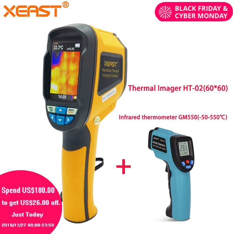 Make delivery from Moscow Handheld Thermal Imaging Camera ht-02 Thermal Imager thermometre infrarouge termometro infravermelho