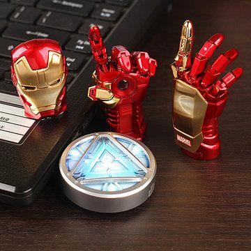 NEW Avengers Iron Man Main LED Flash Drive 64 GB USB 2.0 Mémoire bâton Flash Carte 128 GB 1 TB 2 TB Pendrive 512 GB Stylo Lecteur Cadeau clé