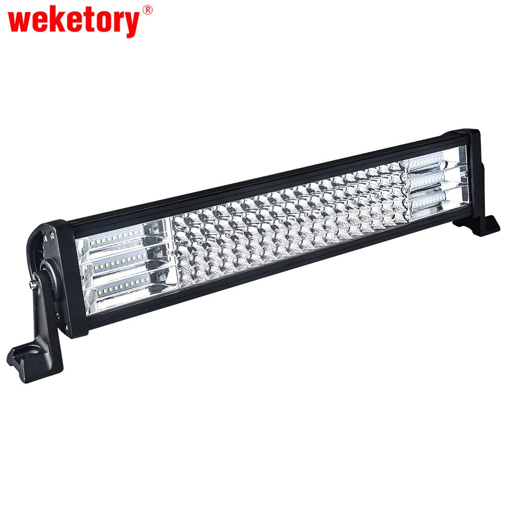 weketory 22 inch LED Work Light Bar for Driving Car Tractor Boat OffRoad 4WD 4x4 Truck SUV ATV Combo Beam 12V 24V