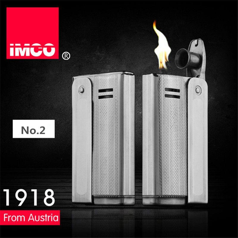 Marque IMCO 6800 briquet en acier inoxydable briquet Original huile essence allume-cigare Vintage feu rétro essence cadeau briquets