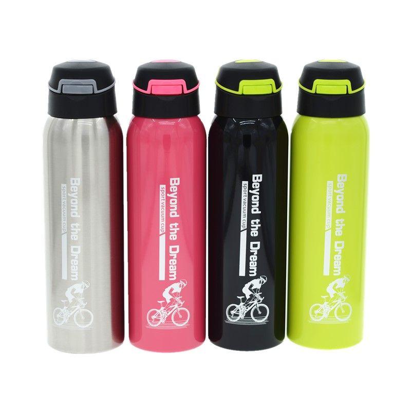 500 ml isolation Sous Vide en acier Inoxydable de paille bouteille d'eau Portable vélo Sport Paille ballon bouteille pour froide et chaude potable