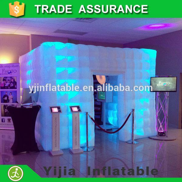 free shipping lighting oxford cloth portable inflatable photo booth kiosk