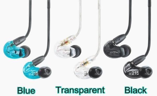 In stock! SE215 Hi-fi stereo Headset Noise Canceling 3.5MM In ear Earphones Separate Cable headset with Box free shipping