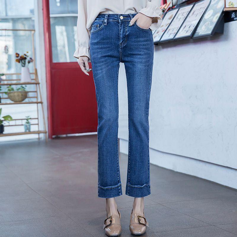 2018 Hit haute qualité mode printemps été femmes coton pantalon taille basse grande taille crayon skinny freddy jeans femme 2KS001-011