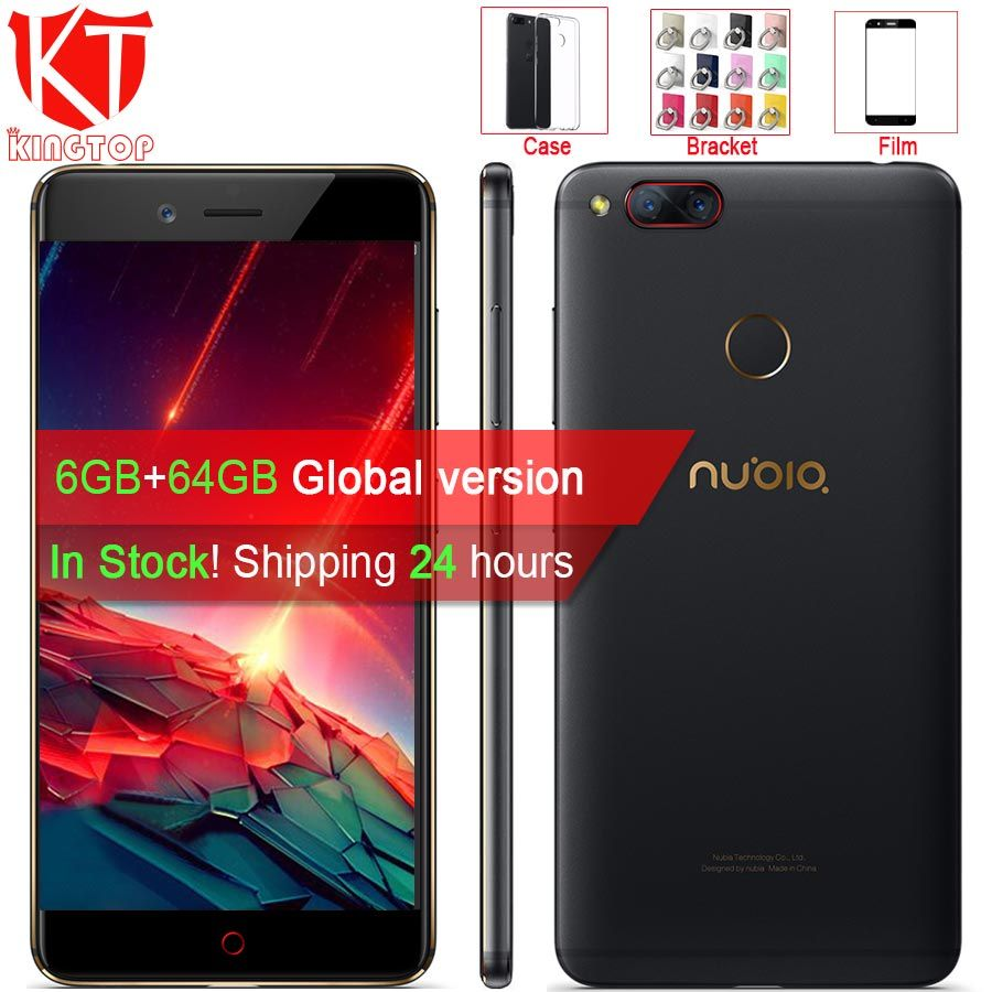 Original ZTE Nubia Z17 mini Mobile Phone 5.2'' 6GB RAM 64GB ROM Snapdragon 652 Octa Core Dual Rear Camera 13MP Android Phone