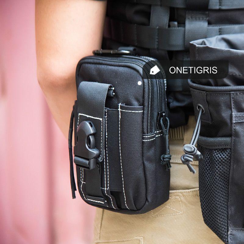 Sac de taille en Nylon OneTigris 1000D Compact sac de ceinture de poche MOLLE EDC pour iPhone6s iPhone7 Plus