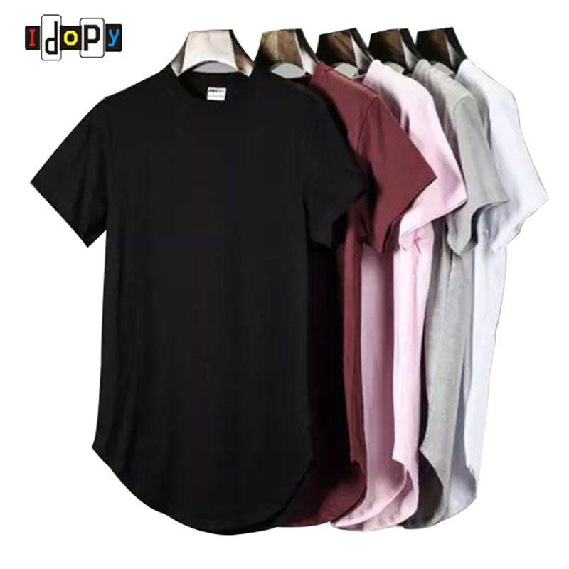 2018 D'été Hommes de Hanche Prolongée Hop Rue De Base T-Shirt Après Longue Planche À Roulettes Allongée Hippie T-shirts Chemise Streetwear Pour Les Hommes