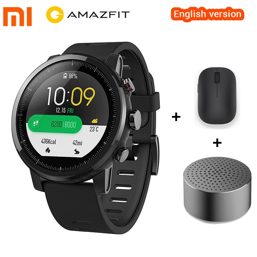 Original Xiaomi Huami Amazfit Stratos 2 Amazfit Stratos Pace 2 Smart Watch With GPS 5 ATM Waterproof Smartwatch For Swimming