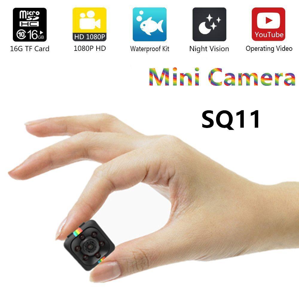 SQ11 HD mini caméra petite caméra cam 1080 p Grand Angle Étanche MINI Caméscope DVR vidéo Sport micro Caméscopes SQ 11