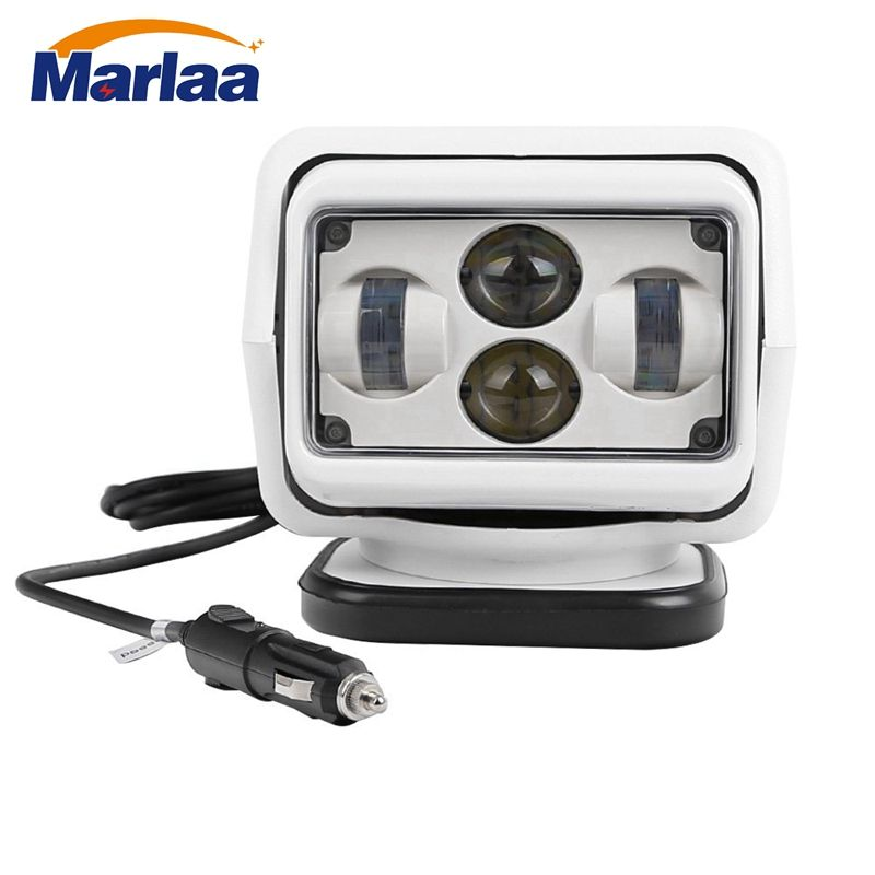 Marlaa 7 Inch 60W Led Remote Control Light Wireless magnets Search Light Camp Hunting Fishing Boat Marine 4x4 Offroad Work Lamps