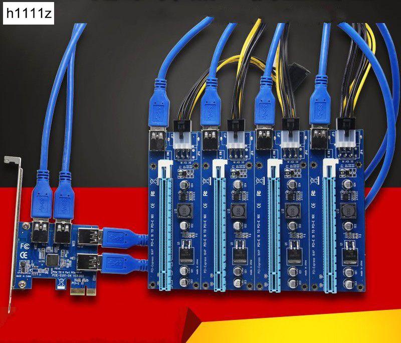 Новый AAD в карты PCIe 1 до 4 pci express 16x Слоты Riser Card pci-e 1x к внешним 4 pci-e адаптер слот pcie Порты и разъёмы Multiplier карты