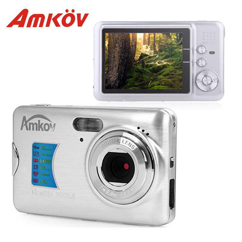 Amkov AMK-CDFE 8Mp Professional Camere Support multi-Language Mini Portable HD 2.7inch Screen Shooting Pocket Digital Camera