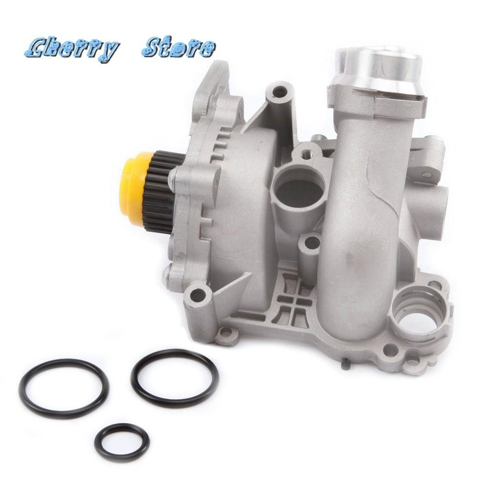 NEW 06H 121 026 DD Aluminum Water Pump Thermostat For VW Passat Golf Jetta Tiguan Audi A4 A6 Q3 Q5 Seat Skoda 2.0TFSI 06H121026T